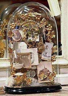 """Antique Accessories   Alhambra Antiques  French 19thC. dome """"Souvenir de Famille"""" $995.00"""