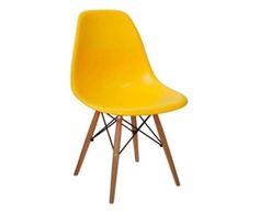 Cadeira Paris Wood - Amarela