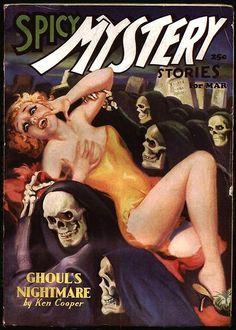 Vintage pulp novel art