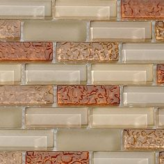 The Rum Raisin Blend from the Crystile Series of Bella Glass Tiles. Beautiful glass mosaic tile for kitchen backsplash. Kitchen Redo, Kitchen Backsplash, Kitchen And Bath, Kitchen Remodel, Kitchen Design, Backsplash Ideas, Taupe Kitchen, Kitchen Floors, Kitchen Cabinetry