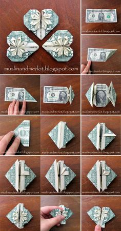 Lesen Sie mehr über Origami-Projekte The Effective Pictures We Offer You About DIY Graduation cake A quality picture can tell you many things. You can find the most beau Origami Design, Diy Origami, Origami Jewelry, Origami Paper, Origami Money Flowers, Oragami Money, Origami With Money, Diy Money Lei, Money Origami Heart