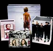 Oooh little personalized photo treasure boxes!