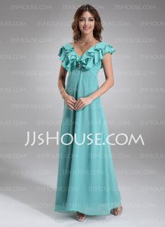 Mother of the Bride Dresses - $138.99 - A-Line/Princess V-neck Floor-Length Chiffon  Charmeuse Mother of the Bride Dresses With Ruffle  Beading (008006332) http://jjshouse.com/A-Line-Princess-V-Neck-Floor-Length-Chiffon-Charmeuse-Mother-Of-The-Bride-Dresses-With-Ruffle-Beading-008006332-g6332