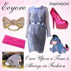 Disney Style: Eeyore by trulygirlygirl on Polyvore featuring Carvela, Debut, Lipsy, LUISA BECCARIA, disney, winnie the pooh and eeyore