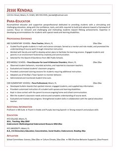 free resume cover letters templates special education career paraeducator template word pdf documents download - Unique Cover Letters Examples
