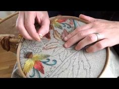 Learn how to stitch a rose using the woven wheel stitch with Kayla of Knotty Dickens. 6 strands of embroidery floss are being used here in this video. ...