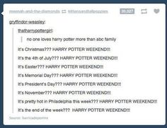 FreeForm actually does an HP weekend every single week
