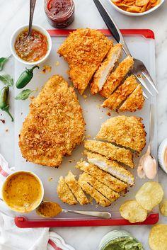 Potato Chip Crusted Chicken Breasts Recipe   foodiecrush.com