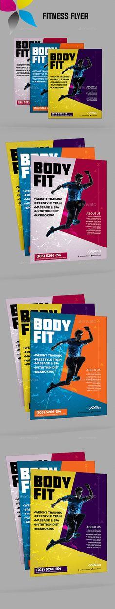 Sports  Fitness Flyer Marketing  Branding Pinterest