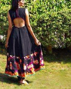 Facebook: www.facebook.com/tijoribynikita #black #cutoutdress #indowestern Ethnic Outfits, Indian Outfits, Fashion Outfits, Ethnic Dress, Indian Clothes, Diy Fashion, Kurta Designs, Saree Blouse Designs, Western Dresses