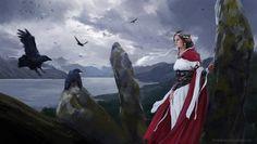 Ravens, Axel Sauerwald on ArtStation at https://www.artstation.com/artwork/Al845