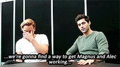 Matt talking about Malec in Season 2