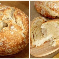 No-Knead Overnight Bread  Recipes No-Knead Overnight Bread – Print Artisan Bread Recipes, Easy Bread Recipes, Cooking Recipes, Cornbread Recipes, Jiffy Cornbread, Bar Recipes, Oven Recipes, Lunch Recipes, English Muffin Bread