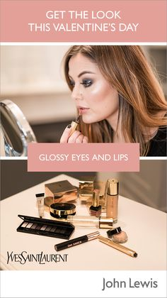 Lydia Cook, Make-Up Artist for YSL shows us how to create glossy eyes and lips, a glamorous evening look. Perfect for Valentine's Day, whether you're planning a romantic date night or a night out with friends.