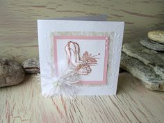 Wedding Shoes Wedding Card 5.8 x 5.8 Pink by 4SeasonCards on Etsy