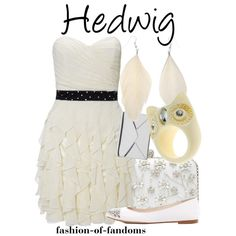 Hedwig by fofandoms on Polyvore featuring Lipsy, MICHAEL Michael Kors, Forever New, Miss Selfridge, Off-White and Links of London