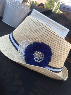 2e9a5c6650a Embellished Kids Straw Hat by CinderellaAvenue on Etsy Beach Hats