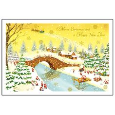 Greeting Life Mini Santa Christmas Card S-368