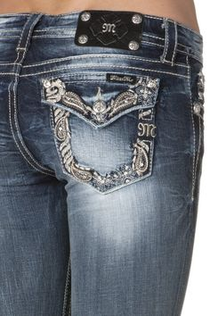 Miss me jeans sparkle paisley bootcut
