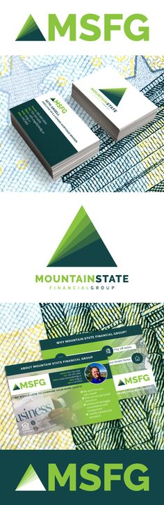 Working with industry professionals is very rewarding! Check out our brand design for Colorado-based mortgage solutions firm, Mountain State Financial Group.  #logodesign #branddesign #brandidentity #marketingmaterials