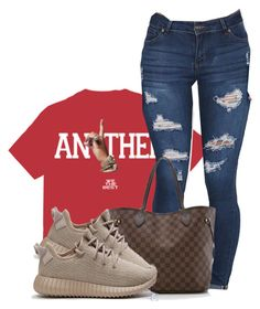 """Not like the movies ."" by princess-alexis18 ❤ liked on Polyvore featuring Louis Vuitton and adidas"