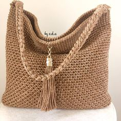 Best 12 Totally handmade crochet tote bag with short or long knitted handles. Huge variety of colors available. Inspired by minimalistic Scandinavian style – SkillOfKing. Crotchet Bags, Crochet Tote, Crochet Handbags, Crochet Purses, Knitted Bags, Knit Crochet, Knit Bag, Macrame Bag, Jute Bags