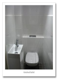 extreme makeover of small toilet white tiles alessi faucet grohe plate