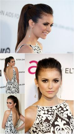 nina dobrev hair-makeup 2014