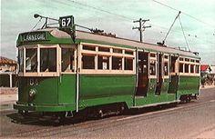 Souvenir photograph of Class L tram, Six of this class were designed by… Melbourne Tram, Transport Pictures, Rail Transport, New Drivers, Melbourne Victoria, Light Rail, Historical Photos, Vintage Photos, Transportation