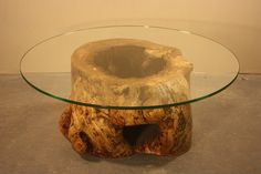 Hollow Log Cats Coffee Table by IsGoodWoodworksShop on Etsy