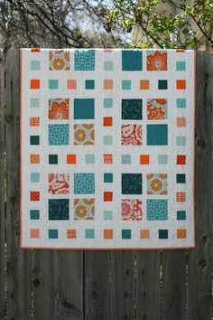 Quilts With Charm Packs A Little Bit Biased Square Dance Simple Quilt Pattern Love The Colors Like The Idea Of The Little Squares In The Wide Sashing In Coordinating Missouri Star Quilt Company Tutor