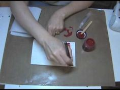 UTEE Resist with Claudine Hellmuth Studio Sticky-Back Canvas and Acrylic Paints - YouTube