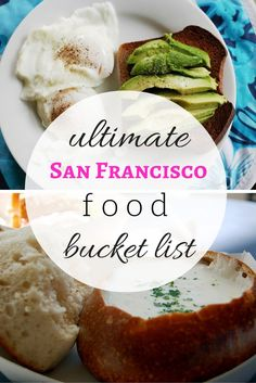 Heading to San Francisco soon? There are dozens of fabulous eateries that you should put on your San Francisco food bucket list! San Francisco Food, San Francisco Restaurants, San Francisco Travel, Breakfast San Francisco, San Francisco Dinner, Weekend In San Francisco, San Fransisco, San Diego, Pacific Coast Highway
