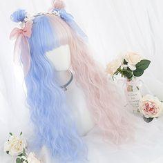 Harajuku Perücke - New Site Kawaii Hairstyles, Pretty Hairstyles, Wig Hairstyles, Manga Hair, Anime Hair, Kawaii Wigs, Half And Half Hair, Lolita Hair, Anime Wigs