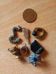 Mini-Horcruxes pendant set size by EerieStir.deviantart.com on @DeviantArt