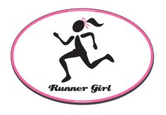 """Buy our Magnetic Pink Ribbon Runner Girl Car Magnet. We can make Custom Pink Ribbon Runner Girl Car Magnets for your organization or event.This 4"""" x 6""""  Pink Ribbon Runner Girl Car Oval Magnet  is manufactured and printed in the USA. We print on premium quality, super-thick (.030) magnetic material with top quality, UV protected inks. Be sure to remove, clean and reposition your magnet weekly."""