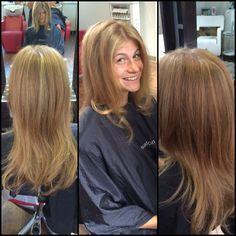 #HairbyAllysonGray #trim #hilites ##blondie #champagne #Beautiful #natural