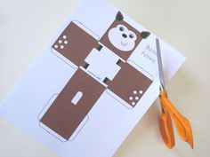 FREE printable  Boxy Fawn - Paper Toy PTF