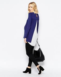 Mama.licious | Mamalicious Two In One Layered Top With Open Back Detail at ASOS