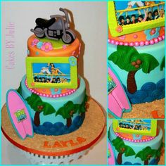 Teen Beach Movie Cake.