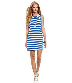 kensie French Terry StripePrint Dress #Dillards