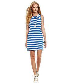 kensie French Terry StripePrint Dress #Dillards
