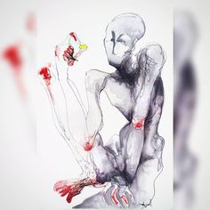 #drawingoftheday #speeddrawing #inkdrawing #pencildrawing #pendrawing #watercolor #watercolorpainting #inkpainting #darkart #creepyart #pigmamicron #sennelier #bestartblog #talentedpeopleinc #art_spotlight #instadraw #artlover #frenchartist #France by lucynka_int