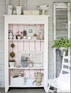 DIY: Pink whisper Thrift Hutch Makeover