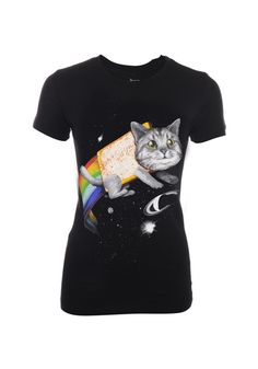 Daily desire!    We have loads of new Goodie Two Sleeves products available online now! If you love Nyan cats then you'll love this space cat tee, we know we do! Available in stores and online £19.99    Follow the link to buy    http://www.thisispulp.co.uk/browse/goodietwosleeves_0_574_0_na_0.html?startnumber=showall