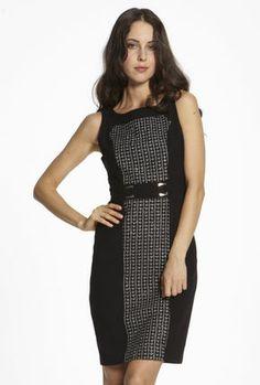 Buckle Detail Dress — Maxshop.com $159  a nice stylish dress- I like the belt detailing.