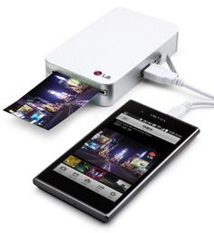 LG Pocket Photo PD221 SILVER Mini Mobile Printer for Android Smartphone:Amazon:Electronics