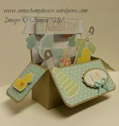 Rectangular Card in a Box For a Baby