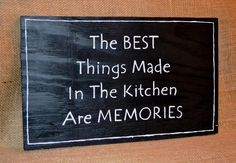Handmade Sign, Handpainted Lettering  The Kitchen Are Memories  Carova Beach Crafts