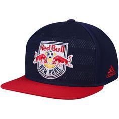 382415694ae Men s adidas Navy New York Red Bulls Authentic Team Snapback Adjustable Hat
